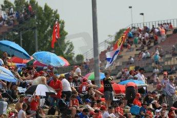 World © Octane Photographic Ltd. Saturday 10th May 2014. Circuit de Catalunya - Spain - Formula 1 Practice 3. Fan and flags. Digital Ref: 0935lb1d7096