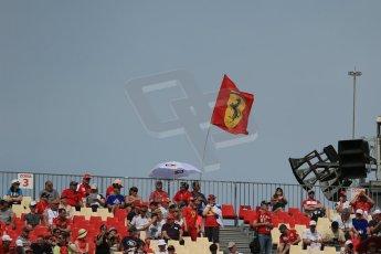 World © Octane Photographic Ltd. Saturday 10th May 2014. Circuit de Catalunya - Spain - Formula 1 Practice 3. Fan and flags. Digital Ref: 0935lb1d7101