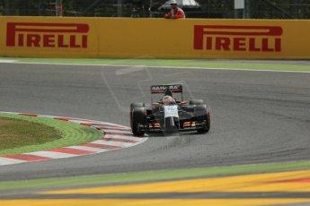 World © Octane Photographic Ltd. Saturday 10th May 2014. Circuit de Catalunya - Spain - Formula 1 Practice 3. Sahara Force India VJM07 – Sergio Perez. Digital Ref: 0935lb1d7184