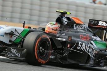 World © Octane Photographic Ltd. Saturday 10th May 2014. Circuit de Catalunya - Spain - Formula 1 Practice 3. Sahara Force India VJM07 – Sergio Perez. Digital Ref: 0935lb1d7342