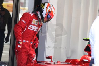 World © Octane Photographic Ltd. Saturday 10th May 2014. Circuit de Catalunya - Spain - Formula 1 Qualifying. Scuderia Ferrari F14T – Kimi Raikkonen. Digital Ref: 0936cb7d9868