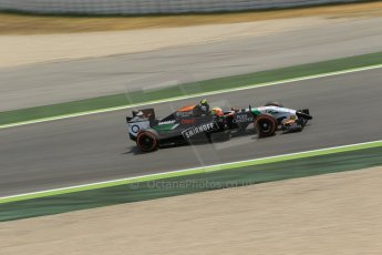 World © Octane Photographic Ltd. Saturday 10th May 2014. Circuit de Catalunya - Spain - Formula 1 Qualifying. Sahara Force India VJM07 – Sergio Perez. Digital Ref: 0936lb1d3949