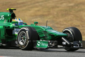 World © Octane Photographic Ltd. Saturday 10th May 2014. Circuit de Catalunya - Spain - Formula 1 Qualifying. Caterham F1 Team CT05 – Marcus Ericsson. Digital Ref: 0936lb1d7835