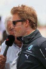 World © Octane Photographic Ltd. Sunday 11th May 2014. Circuit de Catalunya - Spain - Formula 1 Driver Parade. Mercedes AMG Petronas F1 W05 Hybrid - Nico Rosberg. Digital Ref: