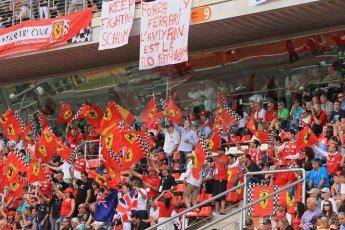 World © Octane Photographic Ltd. Sunday 11th May 2014. Circuit de Catalunya - Spain - Formula 1 Grid. Tifossi in the main grandstand. Digital Ref:
