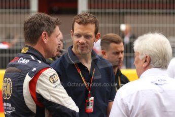 World © Octane Photographic Ltd. Sunday 11th May 2014. Circuit de Catalunya, Barcelona, Spain. F1/GP2/GP3 Mercedes SLS AMG Safety Car with Herbie Blash, Alexander Wurz and Berndt Maylander. Digital Ref :