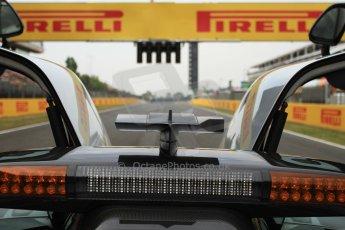 World © Octane Photographic Ltd. Sunday 11th May 2014. Circuit de Catalunya, Barcelona, Spain. F1/GP2/GP3 Mercedes SLS AMG Safety Car. Digital Ref :