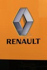 World © Octane Photographic Ltd. Sunday 11th May 2014. Circuit de Catalunya, Barcelona, Spain. Renault logo. Digital Ref :