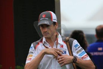 World © Octane Photographic Ltd. Sunday 11th May 2014. Circuit de Catalunya - Spain - Formula 1 Paddock. Sauber C33 – Adrian Sutil. Digital Ref: