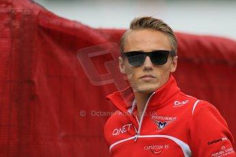 World © Octane Photographic Ltd. Sunday 11th May 2014. Circuit de Catalunya - Spain - Formula 1 Paddock. Marussia F1 Team MR03 - Max Chilton. Digital Ref: