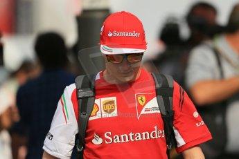 World © Octane Photographic Ltd. Sunday 11th May 2014. Circuit de Catalunya - Spain - Formula 1 Paddock. Scuderia Ferrari F14T – Kimi Raikkonen. Digital Ref: