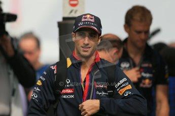 World © Octane Photographic Ltd. Sunday 11th May 2014. Circuit de Catalunya - Spain - Formula 1 Paddock. Infiniti Red Bull Racing RB10 – Daniel Ricciardo. Digital Ref: