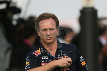 World © Octane Photographic Ltd. Sunday 11th May 2014. Circuit de Catalunya - Spain - Formula 1 Paddock. Infiniti Red Bull Racing - Christian Horner. Digital Ref: