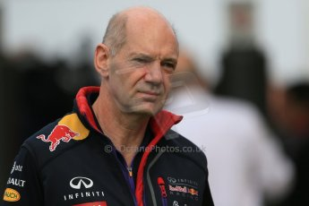 World © Octane Photographic Ltd. Sunday 11th May 2014. Circuit de Catalunya - Spain - Formula 1 Paddock. Infiniti Red Bull Racing - Adrian Newey. Digital Ref: