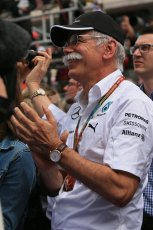 World © Octane Photographic Ltd. Thursday 8th May 2014. Circuit de Catalunya - Spain - Formula 1 Podium. Head of Daimler AG - Dieter Zetsche. Digital Ref: