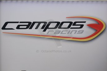 World © Octane Photographic Ltd. Thursday 8th May 2014. GP2 Paddock – Circuit de Catalunya, Barcelona, Spain. Campos Racing logo. Digital Ref : 0923cb1d2811
