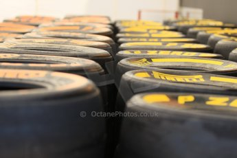 World © Octane Photographic Ltd. Thursday 8th May 2014. GP3 Paddock – Circuit de Catalunya, Barcelona, Spain. Pirelli tyre choice. Digital Ref : 0923cb1d2853