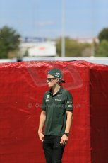 World © Octane Photographic Ltd. Thursday 8th May 2014. Circuit de Catalunya - Spain - Formula 1 Paddock. Caterham F1 Team CT05 – Marcus Ericsson. Digital Ref: 0922lb1d2766