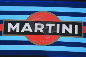 World © Octane Photographic Ltd. Thursday 8th May 2014. Circuit de Catalunya - Spain - Formula 1 Paddock. Williams Martini Racing logo. Digital Ref: 0922lb1d2824