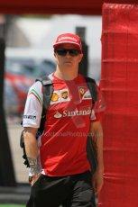 World © Octane Photographic Ltd. Thursday 8th May 2014. Circuit de Catalunya - Spain - Formula 1 Paddock. Scuderia Ferrari F14T – Kimi Raikkonen. Digital Ref: 0922lb1d2888