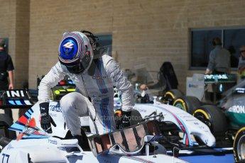 World © Octane Photographic Ltd. Saturday 1st November 2014, F1 USA GP, Austin, Texas, Circuit of the Americas (COTA) - Qualifying. Williams Martini Racing FW36 – Valtteri Bottas. Digital Ref: 1149LB1D0358