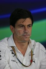 World © Octane Photographic Ltd. Friday 31st October 2014, F1 USA GP, Austin, Texas, Circuit of the Americas (COTA) - FIA Press Conference. Mercedes AMG Petronas Executive Director  – Toto Wolff. Digital Ref: 1146LB1D9219
