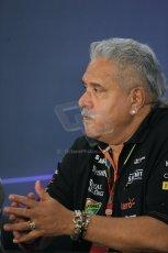World © Octane Photographic Ltd. Friday 31st October 2014, F1 USA GP, Austin, Texas, Circuit of the Americas (COTA) - FIA Press Conference. Sahara Force India Team Principle – Vijay Mallya. Digital Ref:  1146LB1D9312