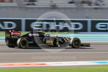 World © Octane Photographic Ltd. Lotus F1 Team Reserve Driver – Jolyon Palmer. Friday 27th November 2015, F1 Abu Dhabi Grand Prix, Practice 1, Yas Marina. Digital Ref: 1477CB1L5321