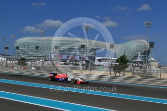 World © Octane Photographic Ltd. Manor Marussia F1 Team MR03B – William Stevens. Friday 27th November 2015, F1 Abu Dhabi Grand Prix, Practice 1, Yas Marina. Digital Ref: 1477LB1D6121
