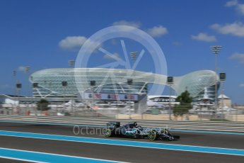 World © Octane Photographic Ltd. Mercedes AMG Petronas F1 W06 Hybrid – Nico Rosberg. Friday 27th November 2015, F1 Abu Dhabi Grand Prix, Practice 1, Yas Marina. Digital Ref: 1477LB1D6242