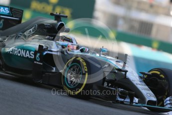 World © Octane Photographic Ltd. Mercedes AMG Petronas F1 W06 Hybrid – Lewis Hamilton. Friday 27th November 2015, F1 Abu Dhabi Grand Prix, Practice 1, Yas Marina. Digital Ref: 1477LB1D6902