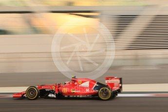 World © Octane Photographic Ltd. Scuderia Ferrari SF15-T– Kimi Raikkonen. Friday 27th November 2015, F1 Abu Dhabi Grand Prix, Practice 2, Yas Marina. Digital Ref: 1478CB7D1849