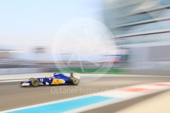 World © Octane Photographic Ltd. Sauber F1 Team C34-Ferrari – Felipe Nasr. Friday 27th November 2015, F1 Abu Dhabi Grand Prix, Practice 2, Yas Marina. Digital Ref: 1478CB7D2036