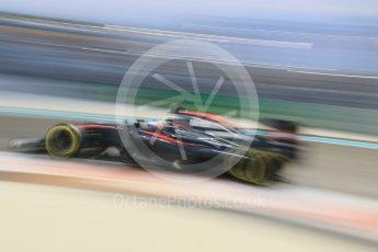 World © Octane Photographic Ltd. McLaren Honda MP4/30 – Fernando Alonso. Friday 27th November 2015, F1 Abu Dhabi Grand Prix, Practice 2, Yas Marina. Digital Ref: 1478CB7D2124