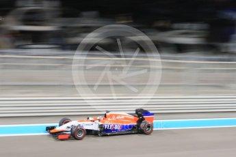 World © Octane Photographic Ltd. Manor Marussia F1 Team MR03B – William Stevens. Friday 27th November 2015, F1 Abu Dhabi Grand Prix, Practice 2, Yas Marina. Digital Ref: 1478CB7D2482