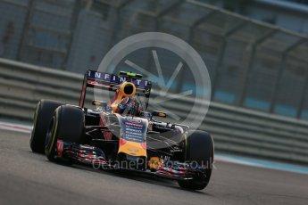 World © Octane Photographic Ltd. Infiniti Red Bull Racing RB11 – Daniil Kvyat. Friday 27th November 2015, F1 Abu Dhabi Grand Prix, Practice 2, Yas Marina. Digital Ref: 1478LB1D7131