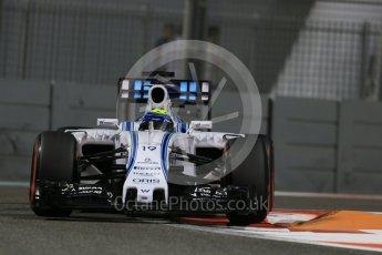 World © Octane Photographic Ltd. Williams Martini Racing FW37 – Felipe Massa. Friday 27th November 2015, F1 Abu Dhabi Grand Prix, Practice 2, Yas Marina. Digital Ref: 1478LB1D7474