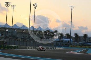 World © Octane Photographic Ltd. Scuderia Ferrari SF15-T– Kimi Raikkonen. Friday 27th November 2015, F1 Abu Dhabi Grand Prix, Practice 2, Yas Marina. Digital Ref: 1478LB5D4169