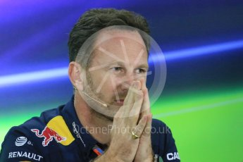 World © Octane Photographic Ltd.. Friday 27th November 2015, F1 Abu Dhabi Grand Prix, Team Personnel FIA Press Conference, Yas Marina. Christian Horner – Infiniti Red Bull Racing Team Principle. Digital Ref: 1480LB1D8058