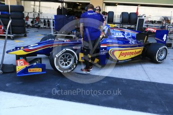 World © Octane Photographic Ltd. Friday 27th November 2015. Carlin – Sean Gelael. GP2 Practice, Yas Marina, Abu Dhabi. Digital Ref. : 1476CB7D1530