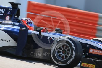 World © Octane Photographic Ltd. Friday 27th November 2015. Russian Time – Mitch Evans. GP2 Practice, Yas Marina, Abu Dhabi. Digital Ref. : 1476LB1D5914