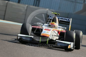 World © Octane Photographic Ltd. Friday 27th November 2015. Campos Racing – Rio Haryanto. GP2 Practice, Yas Marina, Abu Dhabi. Digital Ref. : 1476LB1D6038