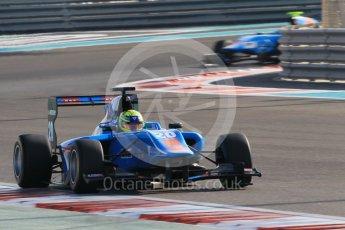 World © Octane Photographic Ltd. Friday 27th November 2015. Jenzer Motorsport – Pal Varhaug and Matheo Tuscher. GP3 Qualifying - Yas Marina, Abu Dhabi. Digital Ref. : 1479CB1L5472