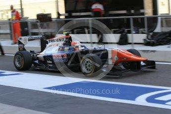 World © Octane Photographic Ltd. Friday 27th November 2015. Trident – Luca Ghiotto. GP3 Practice - Yas Marina, Abu Dhabi. Digital Ref. : 1475CB1L4421