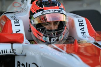 World © Octane Photographic Ltd. Friday 27th November 2015. ART Grand Prix – Esteban Ocon. GP3 Practice - Yas Marina, Abu Dhabi. Digital Ref. : 1475CB1L4447