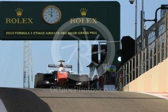 World © Octane Photographic Ltd. Friday 27th November 2015. Trident – Luca Ghiotto. GP3 Practice - Yas Marina, Abu Dhabi. Digital Ref. : 1475CB1L4462