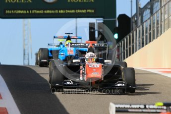 World © Octane Photographic Ltd. Friday 27th November 2015. Trident – Michele Beretta and Jenzer Motorsport – Pal Varhaug. GP3 Practice - Yas Marina, Abu Dhabi. Digital Ref. : 1475CB1L4474