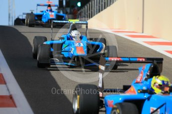 World © Octane Photographic Ltd. Friday 27th November 2015. Jenzer Motorsport – Pal Varhaug, Matheo Tuscher and Ralph Boschung. GP3 Practice - Yas Marina, Abu Dhabi. Digital Ref. : 1475CB1L4479