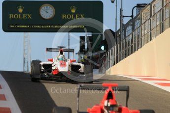 World © Octane Photographic Ltd. Friday 27th November 2015. ART Grand Prix – Alfonso Celis Jr. GP3 Practice - Yas Marina, Abu Dhabi. Digital Ref. : 1475CB1L4552