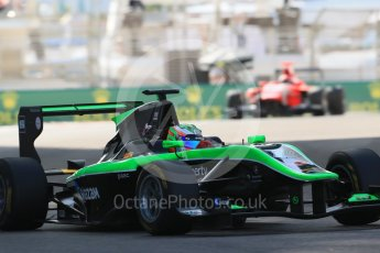 World © Octane Photographic Ltd. Friday 27th November 2015. Status Grand Prix – Seb Morris. GP3 Practice - Yas Marina, Abu Dhabi. Digital Ref. : 1475LB1D5242